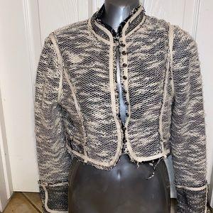 Gimmicks BKE black white twill cropped jacket